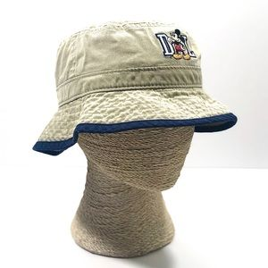 Vintage Disneyland Mickey Mouse Khaki Bucket Hat